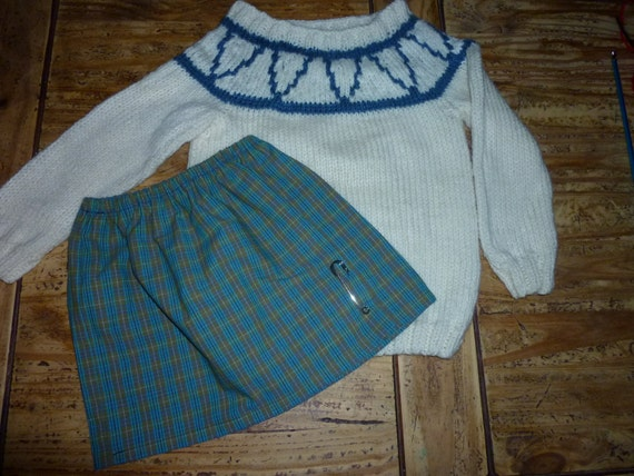 Katie Morag inspired jumper Doll and skirt can be added