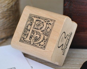 Letter B Rubber Stamp