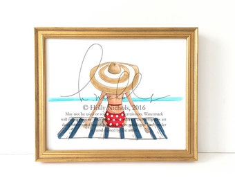 Out of Office (Fashion Illustration Print)