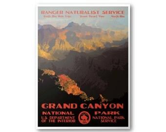 Grand Canyon National Park Poster | National Park Postcard | National Park Print | National Park Art | WPA Poster | WPA Postcard