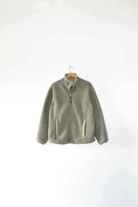 l l bean olive fleece size mens medium 90s
