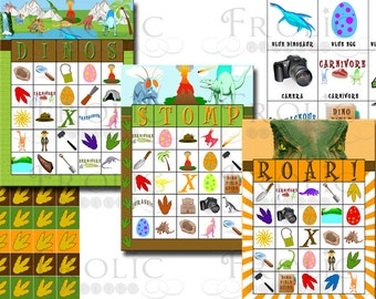 Dinosaur Bingo 30 Printable Cards INSTANT DOWNLOAD