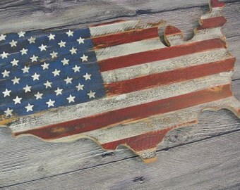3d Usa Flag On Us Map Original Unique Art Patriotic Memorial Day