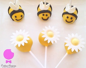 12 Busy Bumble Bee Cake PoPs