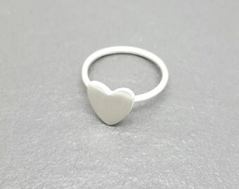 Sterling and Fine Silver Heart Ring