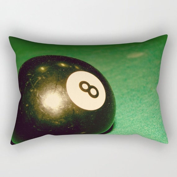 Eight Ball Rectangle Pillow Green Pillow Rectangular Pillow