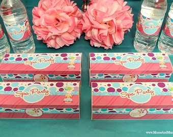 Spa Party Favor Boxes
