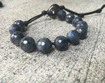 Healing Bracelet // Labradorite Bracelet // Stacking Bracelet // Gemstone Stacking Bracelet