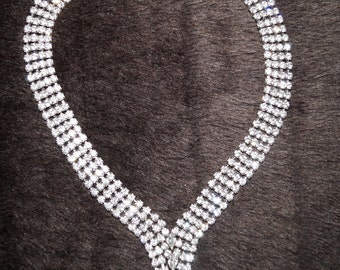50's 60's Glamour Strass Necklace