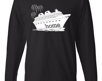 Disney Cruise Is My Home Unisex Crew Neck Long Sleeve T-Shirt
