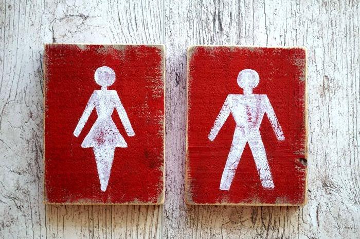 Toilet Door Sign Wc Signs Ladies And Gentlemen Restroom Sign