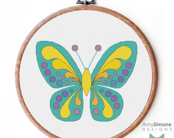 Colourful Butterfly Cross Stitch Pattern