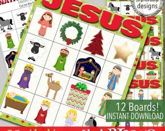 Nativity Mini BINGO - Instant Download