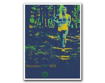 Running Poster Vintage Jogging Art Print Sport Home Decor (294)