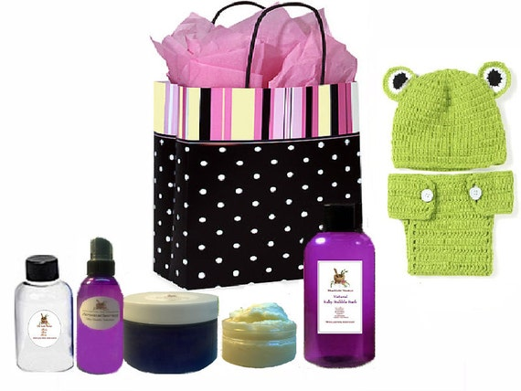 Baby Gift Basket Etsy : New mom and baby gift set basket bag maternity delivery kit