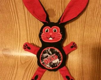 Zombie Fan Stuffed Bunny-Flannel / Cotton