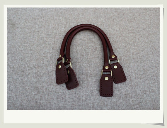 Samantha Brown Luggage Qvc: A Pair Wine Red Genuine Leahter Handles For Bag, Long Ear