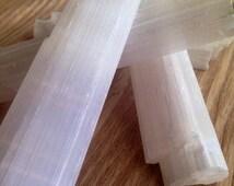 Raw Selenite Crystal Rough Selenite Log Raw Stone Healing Crystals and Stones Raw Crystal Raw Stone Crystal Pendant
