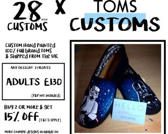 Painted TOMS Customs ADULTS (2 Fronts) Any Design