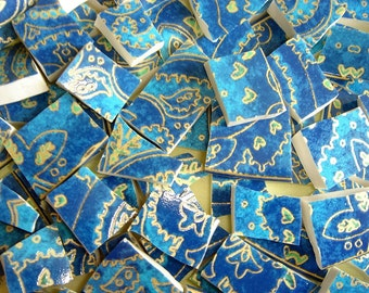 China mosaic tiles - Blue & Gold OPULENCE mosaic tiles