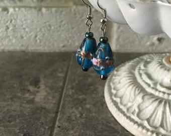 Blue Specialty Glass Earrings