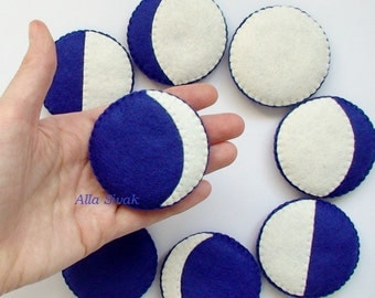 Moon Phases Felt Board, Moon Phases magnets, Handmade Felt Garland The Phases of the Moon, Cycle Moon Phase Felt, full moon, Eco-Friendly