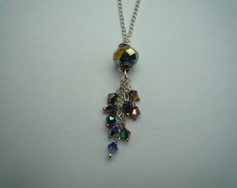 Sparkly Rainbow Pendant Necklace