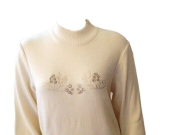 SALE: Bogner Wool Blend White Size Medium Sweater