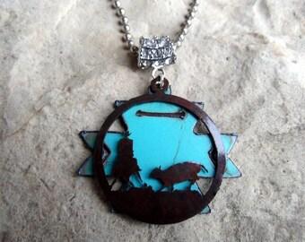 Cutting Horse, Cowgirl Jewelry, Western Jewelry, Rodeo Jewelry, Cowgirl Necklace, Cowboy Jewelry, Horse Necklace, Equestrian Jewelry