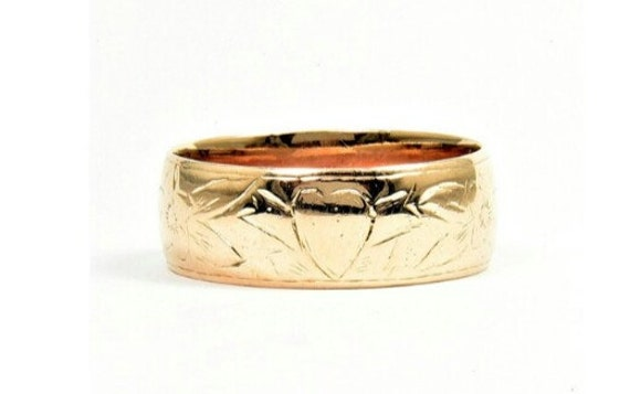 Mens 15K Antique Wedding Band Solid Gold Very Rare