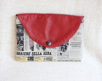 Pouch leather and cotton