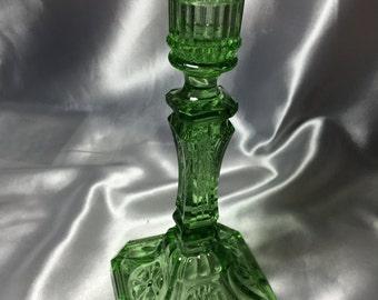 Green Glass Candleholder