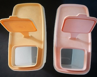 Vintage Tupperware Super Cereal Storer with Lid - CHOICE - sheer, gold lid, pink lid - 1970s - #1588, dry food storage, kitchen, pantry