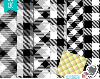 Buffalo Check Layered Photoshop Templates – gingham check / plaid paper templates for kit design – layered psd templates - commercial use
