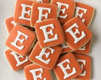 Monogrammed Sugar Cookies - 1 Dozen; Monogrammed Cookies