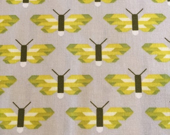 Pacific in Pickle Butterfly Fabric by Elizabeth Hartman for Robert Kaufman Fabrics
