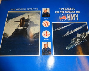 1960s US Navy Enlistment School Book Covers.