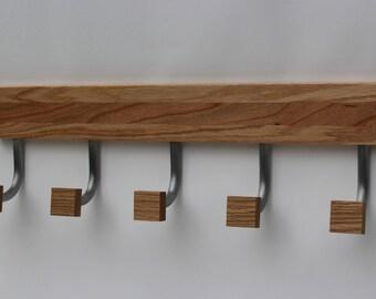 Modern Coat Rack / Wood Coat Rack / Metal Coat Rack / Unique Home Decor by Recovered Design