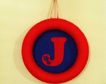 Initial hanger, personalised wall hanging, personalised door hanger,