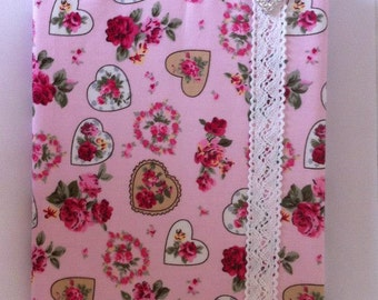 Fabric covered notebook A5
