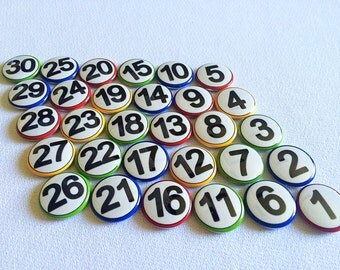 Student Number Magnets - Counting Magnets - Magnetic Numbers - Homeschool Family - Number practice - Math Numbers