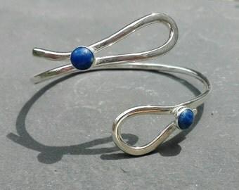Sterling silver lapis lazuli bracelet, Gemstone bracelet, healing bracelet