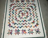 Carpenter Star Scrappy Quilt Pattern by Jean MaDan