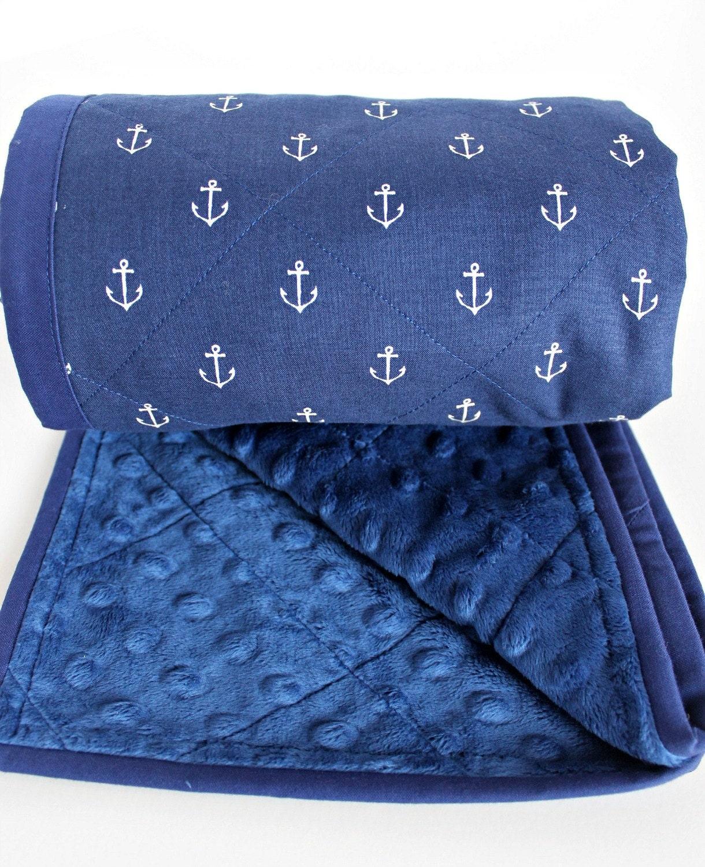 Nautical Baby Blanket Nautical Minky Blanket Boy Baby
