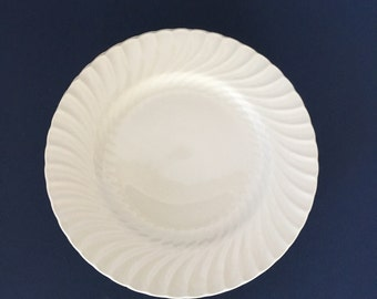 Vintage Burgess & Leigh Plates, Queen's White, set of 8 salad plates | white ironstone plates, Burleigh Ware china, all white china, England