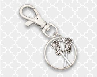 Lacrosse Sticks Keychain / Zipper Pull