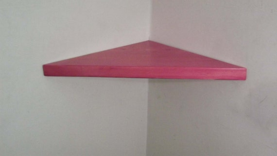 22 inch floating corner shelf with cherry blossom by