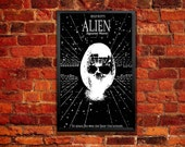 Alien Movie Poster - In Space, No One Can Hear You Scream Bitcoin Accepted