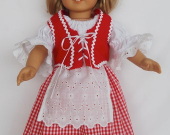 """Little Red Riding Hood outfit, 18"""" Little Red Riding Hood outfit, Costume for 18"""" dolls, Red Riding Hood Costume for 18"""" dolls"""