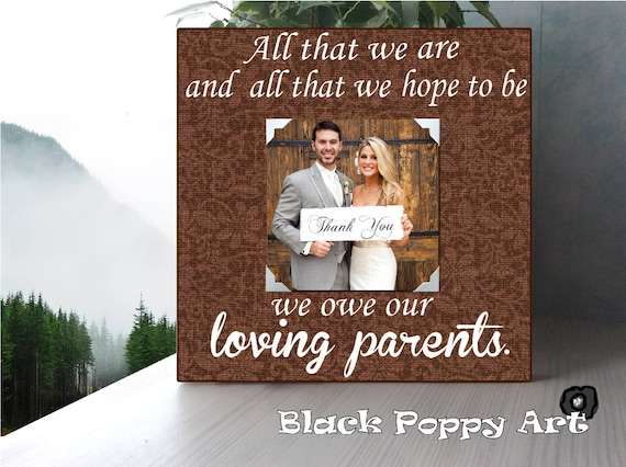 Thank You Gifts For Parents At Wedding: Thank You Gift For Parents/Parents Wedding By BlackPoppyArt